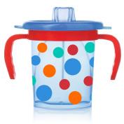 Evenflo Feeding Triple-Flo Tilty Trainer Cup - Blue/Red Polka Dot