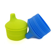 Silikids 2 Pack Siliskin Sippy Tops - Blue/Green