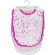 Miracle Blanket MiracleWare Muslin Adjustable Bib, Girl, 3 Pack