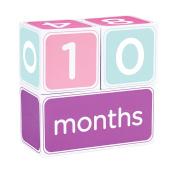 Pearhead Baby Age Blocks - Girl