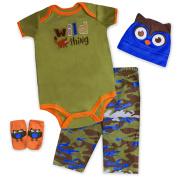 Baby Essentials Camo Wild Thing 4 Piece Layette Set