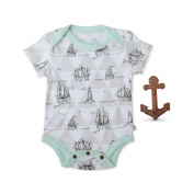 Finn + Emma Organic Cotton Boy Boat Print Gift Set - Size 0-3