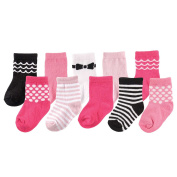 Luvable Friends 10 Pair Socks Gift Set - Girl
