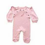 Finn + Emma Organic Cotton Girl Gift Set- footie/hat- size 3-6 - Pink Bridal Rose
