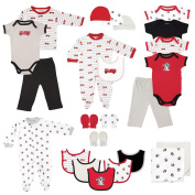 Luvable Friends Boys 24 Piece Red/White/Brown Fire Truck Theme Gift Set
