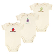 Hudson Baby Neutral Home Grown, Eggcellent, Little Sprout Short Sleeve Bodysuits