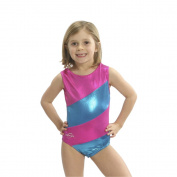 Obersee Girls Pink/Blue Diagonal Gymnastic Leotard