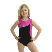 Obersee Girls Black/Pink Flow Gymnastics Leotard