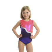 Obersee Girls Pink/Purple Shimmer Ribbon Gymnastics Leotard
