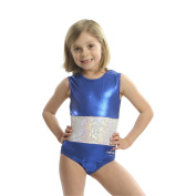 Obersee Girls Blue/White Shimmer Gymnastics Leotard