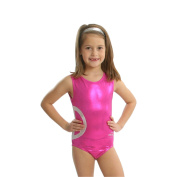 Obersee Girls Pink/White Shimmer Peace Gymnastcis Leotard