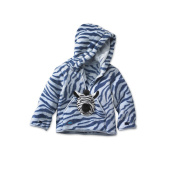 HoodiePet Girls Zebra Print Hoodie with Attached Zolie the Zebra Plush Pet- 3T-4T