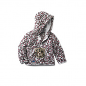 HoodiePet Girls Cheetah Print Hoodie with Attached Speedie the Cheetah Plush Pet- 3T-4T