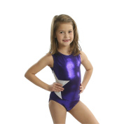 Obersee Girls Purple/White Shimmer Star Gymnastics Leotard