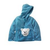 HoodiePet Neutral Turquoise Fleece Hoodie with Attached Arkie the Polar Bear Plush Pet- 3T-4T