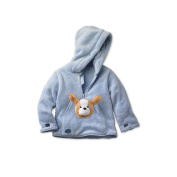 HoodiePet Boys Light Blue Fleece Hoodie with Attached Barky the Puppy Plush Pet- 12- 24 Months