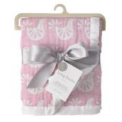 Living Textiles Muslin Jacquard Blanket - Pink Birds