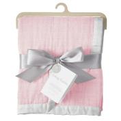 Living Textiles Muslin Textured Blanket - Pink