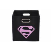 Superman Logo Pink Folding Storage Bin