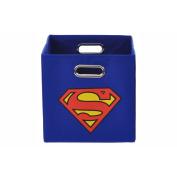 Modern Littles Superman Logo Blue Folding Storage Bin
