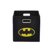 Modern Littles Batman Logo Black Folding Storage Bin