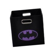 Batman Logo Purple Folding Storage Bin
