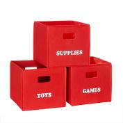 RiverRidge Kids 'Games' Folding Storage Bin - Red