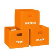 RiverRidge Kids 'Games' Folding Storage Bin - Orange