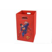 Superman Red Folding Laundry Basket