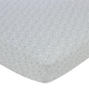 Gerber Knit Crib Sheet - Grey Multi Dot