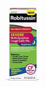 Adult Robitussin Maximum Strength Severe Multi-Symptom Cough Cold+Flu Nighttime Liquid, 240ml