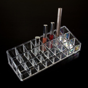 UZZO Clear Acrylic Trapezoid 18 Lattices Lipsticks Cosmetic Organiser/display/holder