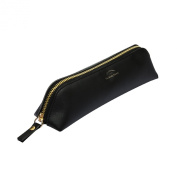 High Quality Synthetic Leather Eyeliner Pencil Pouch Case Around Zip Cosmetics Bags