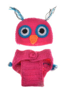 New Cute Owl Baby Hat and Shorts Handmade Crochet Photography Props Baby Hat and Shorts