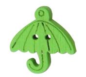 Set of 60, Baby Sweater Buttons Cartoon Umbrella Decorative Buttons, Green