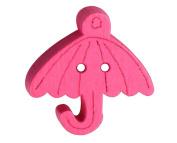 Set of 60, Baby Sweater Buttons Cartoon Umbrella Decorative Buttons, Rosered