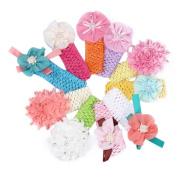 Sankuwen Baby Girls Flower Princess Dress Infant Hairband