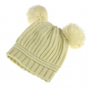 Sankuwen Dual Balls Cute Kids Knitted Beanie Warm Hat