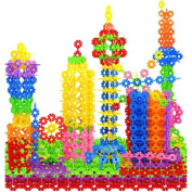 100x Multicolor Kids Baby Snowflake Creative Building Blocks Educational Toy DIY