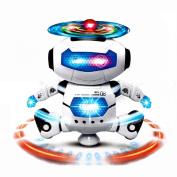 Sankuwen 1 PCS Smart Electronic Dancing Music Light Robot Toys