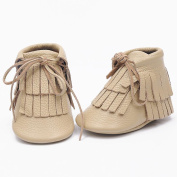 Creazy® Baby Toddler Winter Moccasins Tassel Shoes Firstwalker Boots Leather Shoes