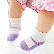 AutumnFall® 4 Pairs Baby Girl Ballet Shoe Print Anti Slip Skid Socks