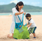 Cindy & Will 1Pcs Big Size Mesh Sand Away Beach Tote Bag/Toy/Clothes/Towel Storage Organiser/Holder/Pocket--Stay Away From Sand and Water, Green