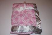 Hudson Baby Pink Super Soft Baby Blanket with Satin Trim