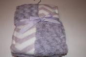 Super Soft Patchwork Baby Blanket 80cm X 100cm Lavender Rosette