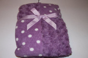 Super Soft Patchwork Baby Blanket 80cm X 100cm Purple Rosette