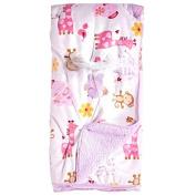 Next Owl Print / Sherpa Blanket