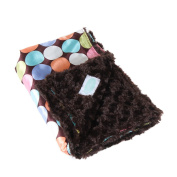 Allyzabba Chocolate-Dot Baby Blanket Large - Chocolate
