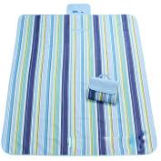 Culon 145*180cm Travel Outdoor Beach Camping Picnic Folding Moistureproof Mat Blanket, Floral