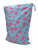 BB2 Medium Printed Wet or Dry Water Resistant Travel Grab & Go Cloth Nappy Bag